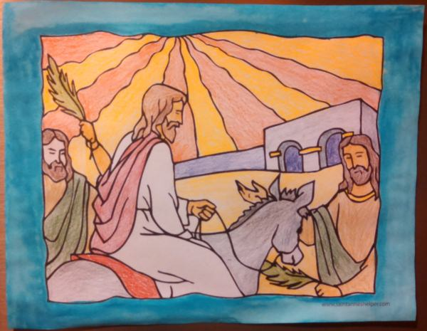 Palm Sunday Coloring Pages: Jesus Enters Jerusalem