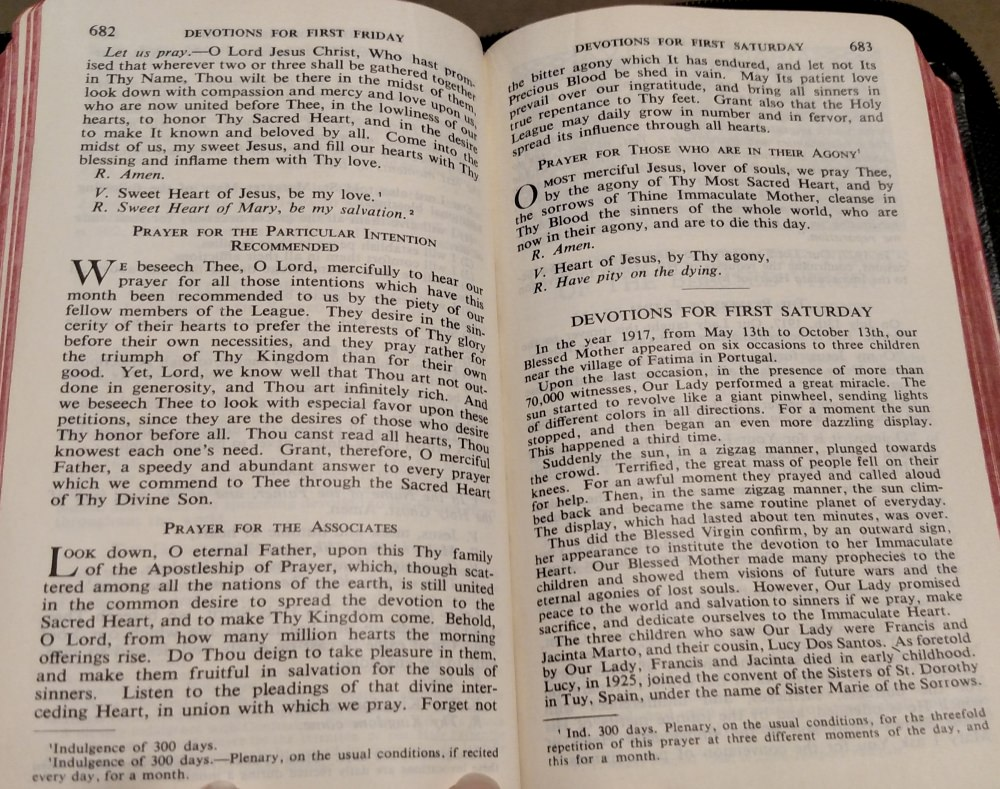 More Prayers To the Sacred Heart - New Marian Missal 1955.