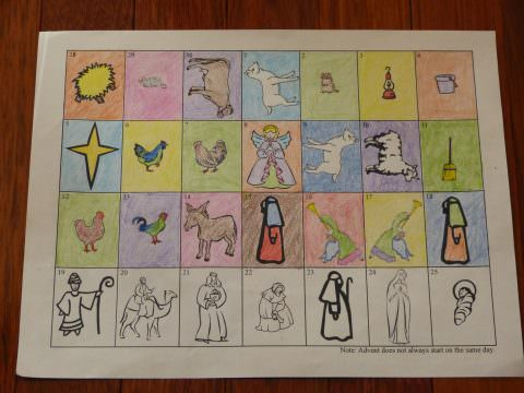 Roman Catholic Advent Season: Printable Advent Calendar - Three pages to cut and color!