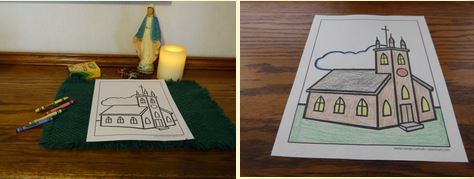 Church Coloring Pages to print