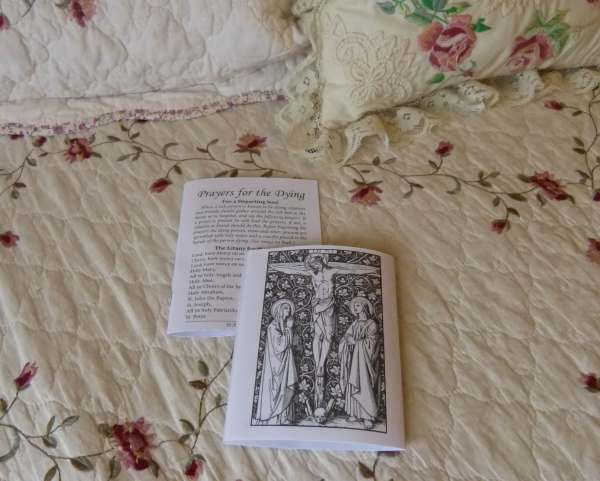 Printable Catholic Prayers For Dying Booklet - Prints two of the same booklets.