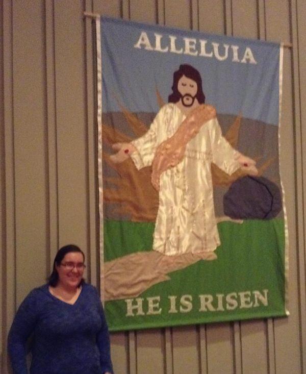 Beautiful Resurrection Tapestry by Jamaie Scott: Alleluia! He is Risen.