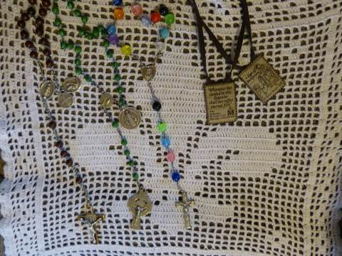 Large Bead Rosaries And Brown Scapular To Have Handy For The Sacrament of Extreme Unction.