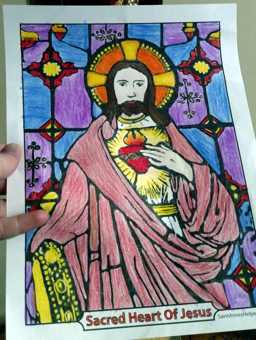 Color Sacred Heart of Jesus Pictures