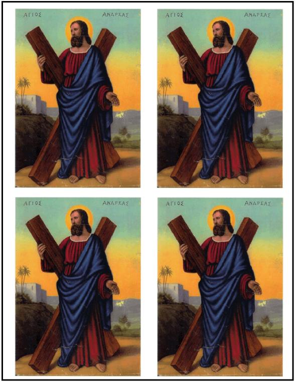 Free printable Saint Andrew Christmas Novena Prayer - 4 up multiples.