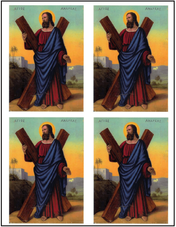 Saint Andrew Christmas Novena: Printable prayer cards - four up.