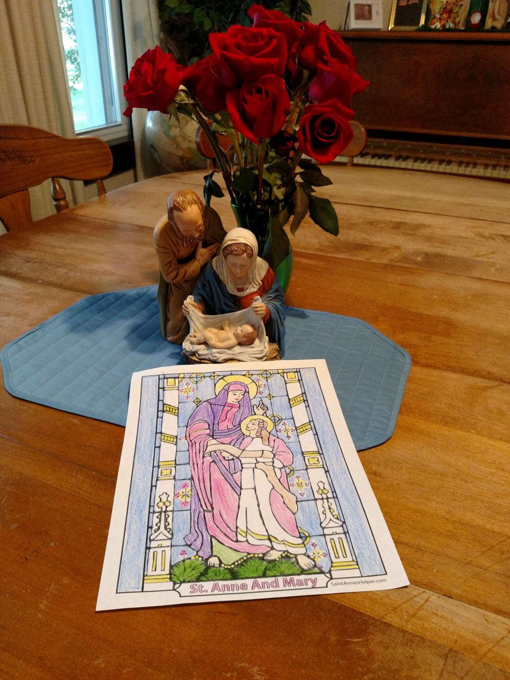 Catholic Feast Days: Saint Anne coloring page. Happy Feast of St. Anne!