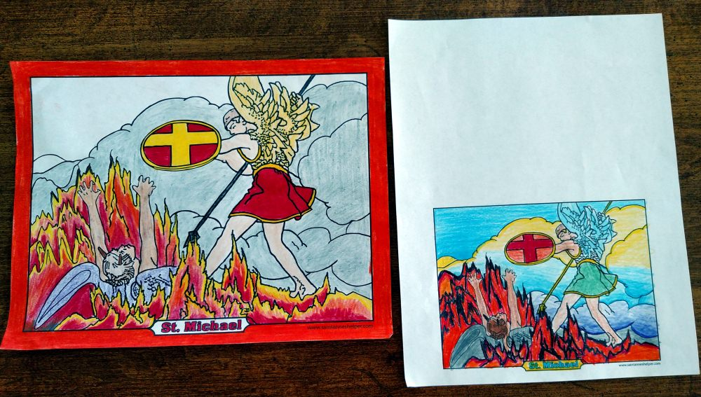 Print cool Saint Michael coloring pages at Saint Anne's Helper!