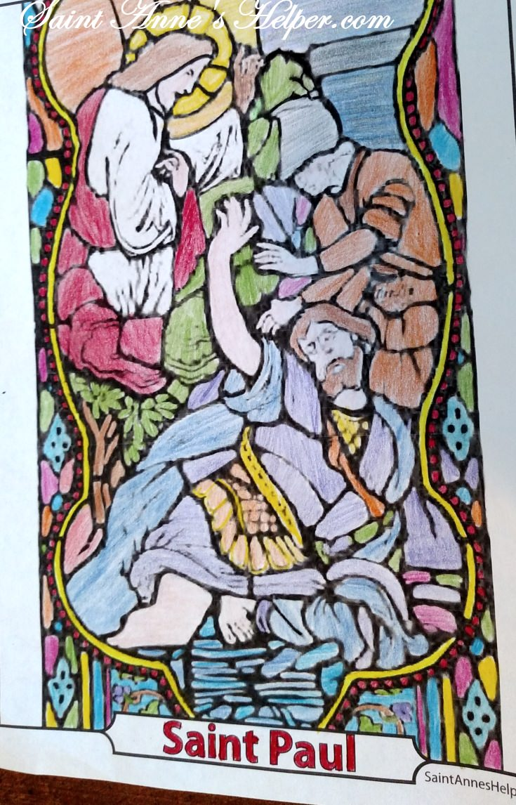 Apostle Paul Coloring Page: Jesus meets Saul on the Road to Damascus. Several Apostle coloring pages. #ApostleColoring