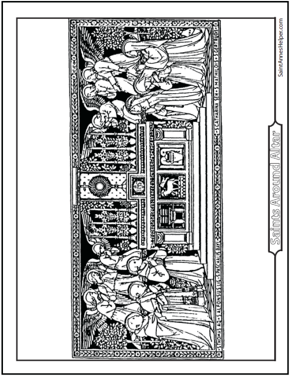 All Saints Day Picture To Color
