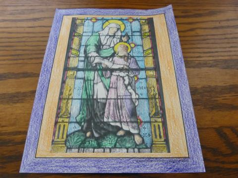 Saint Anne was Mary's mother and the grandmother of Jesus.