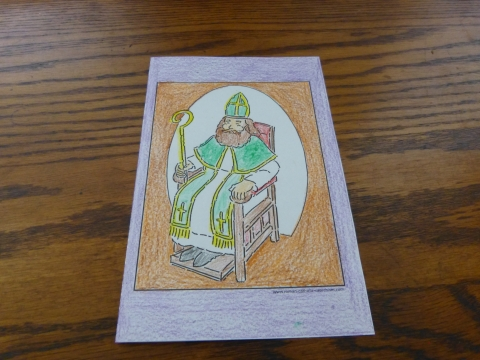 Confirmation Symbol: Bishop Sitting In Chair - Confirmation Coloring Page
