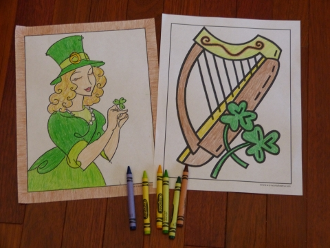 Irish and St. Patrick's Day coloring pages