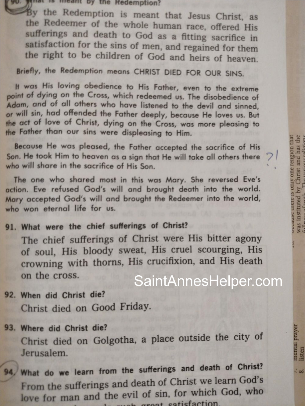 Catholic catechism for children: NSJBC No. 2 combines the Resurrection and Ascension of Jesus.