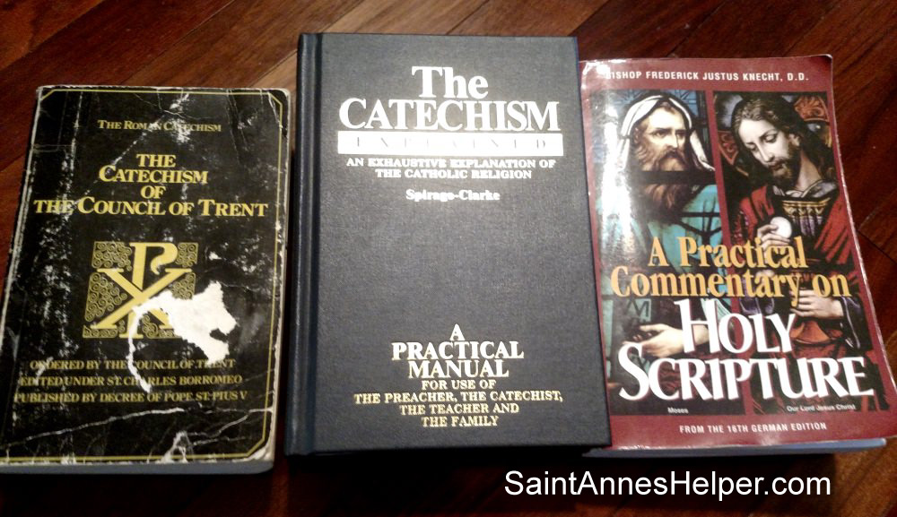 Alternative Catholic catechisms for children: Trent, The Catechism Explained, A Practical Commentary on Holy Scripture.