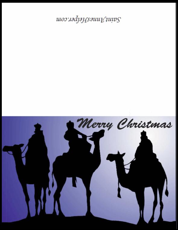 We Three Kings Christmas Card: Silhouette