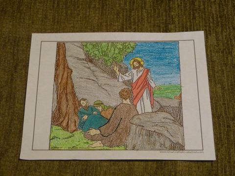 Lent coloring pages - Jesus says,