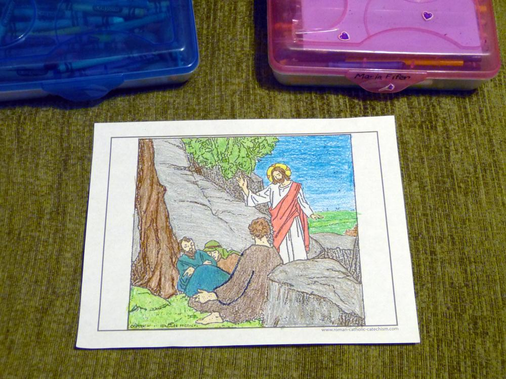 What is Lent coloring page photo.