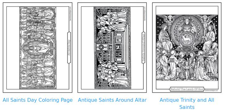 Catholic Saint Coloring Pages: All Saints holy day of obligation
