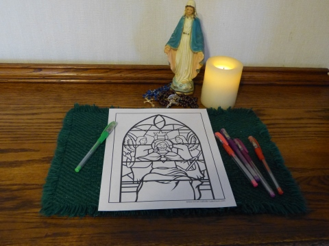 Jesus Christ the King coloring page to print