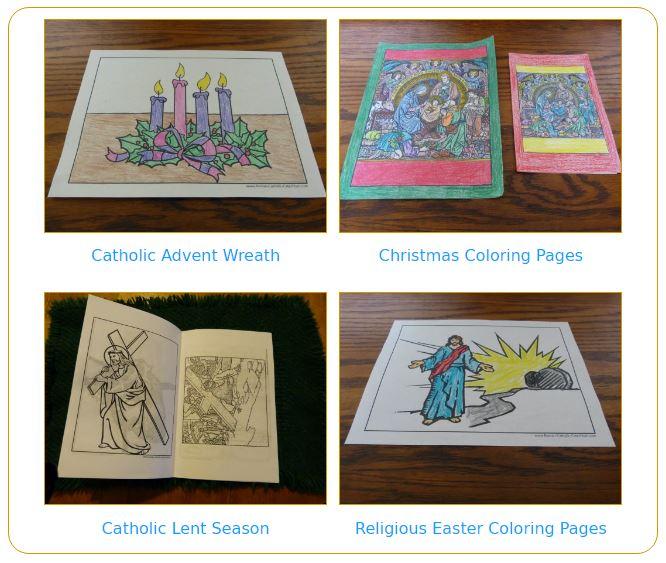 Catholic Liturgical Calendar: Advent, Christmas, Lent, Easter, Pentecost, holy days and feast days.
