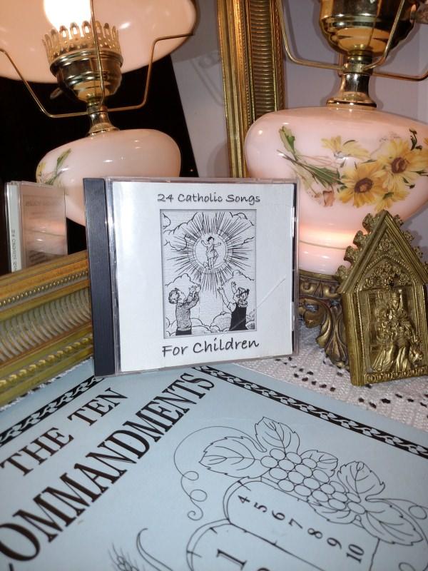 Catholic Ten Commandments Coloring Book and CD