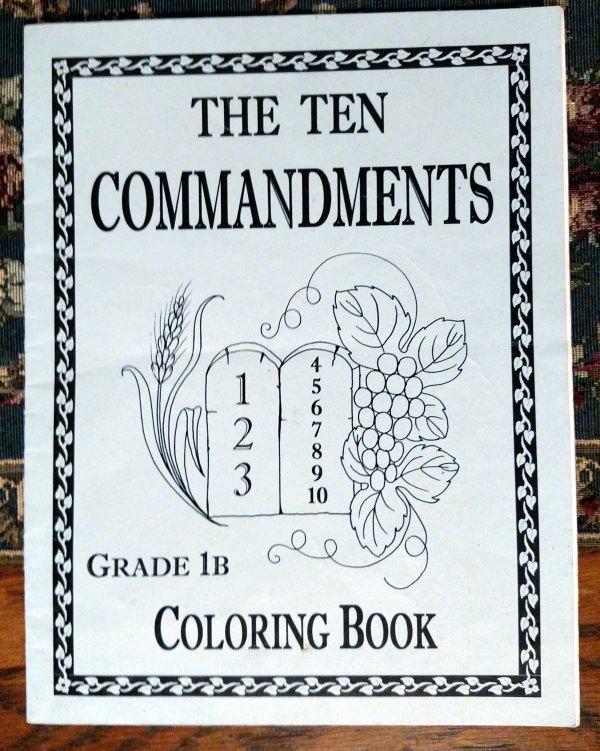 Catholic Ten Commandments Coloring Book