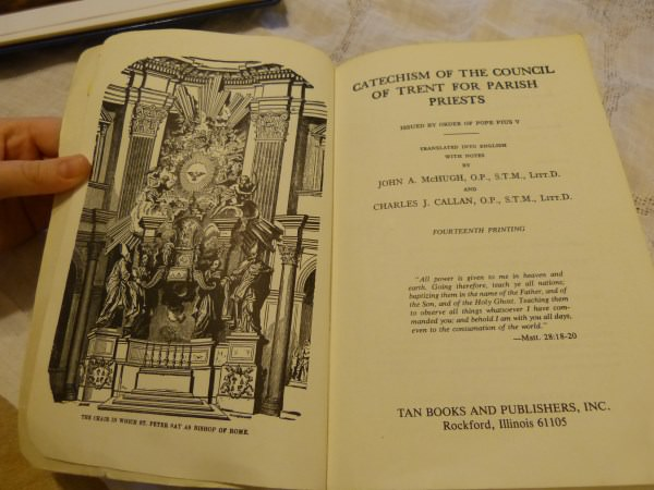 The Chair of St. Peter - Catechism Of The Council Of Trent image: Main Difference between several versions.