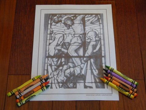 At The Foot Of The Cross Rosary Coloring Pages