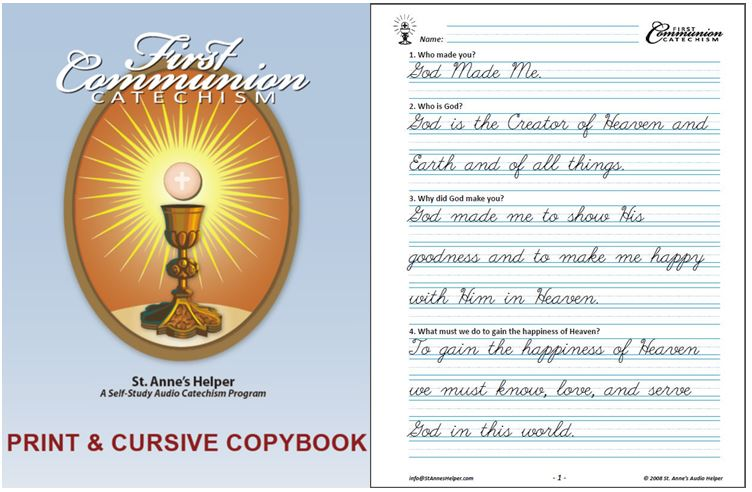 First Communion Catechism Worksheets Cover and Sample
