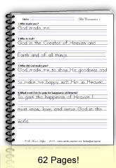 Cursive Writing Worksheet: First Communion Sample