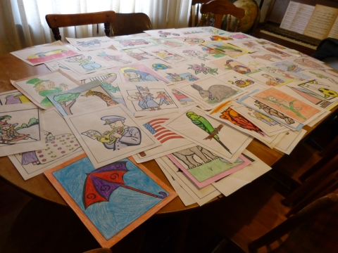 Hundreds of free coloring pages to print in many themes.