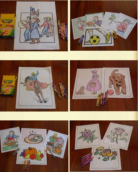 Scores of fun coloring pages to print.