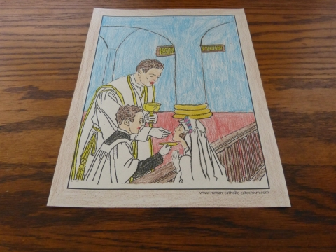 First Holy Communion Coloring Page
