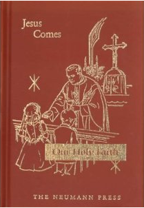 Our Holy Faith: Jesus Comes: First Communion Baltimore Catechism, includes Bible Stories and nice pictures. Buy at Amazon.