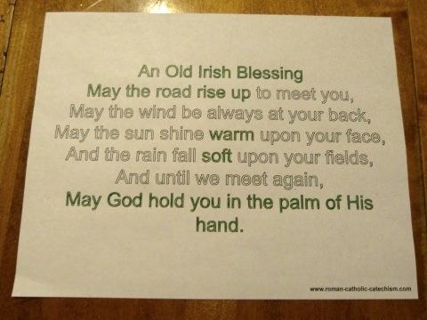 Traditional Irish Blessing Printable: May the road rise up to meet you....
