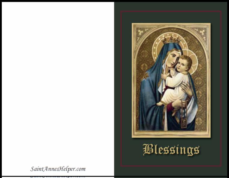 Catholic Christmas Cards: Madonna And Child