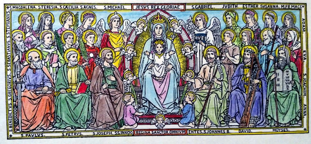 Catholic Saints: Holy Days of Obligation Coloring Pages and Reminder Newsletter.