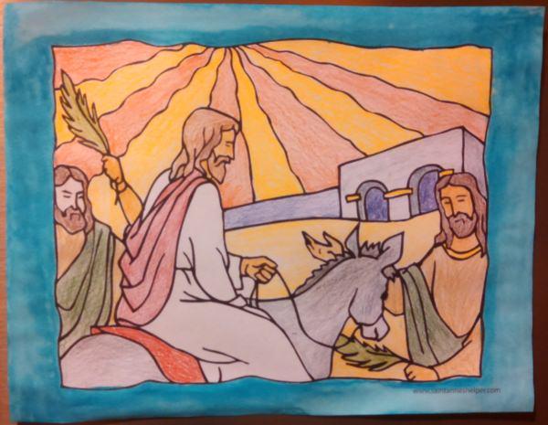 Palm Sunday Coloring Pages: Jesus Enters Jerusalem