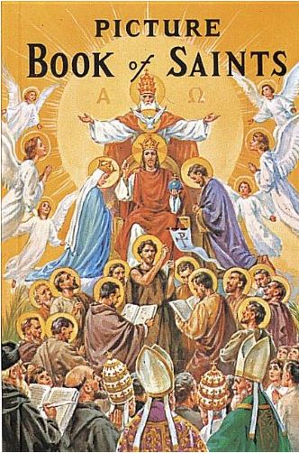 Picture Book of Saints for children, use it like a photo album to teach the Catholic saints.