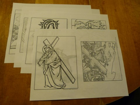 lent activities stations of the cross pictures lenten coloring