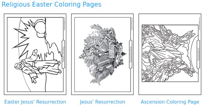 Catholic Feast Days: Religious Easter coloring pages