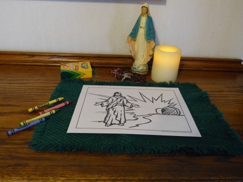 Resurrection of Jesus Rosary Coloring Pages