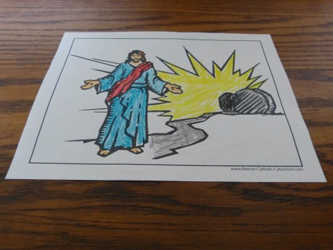 Printable Easter Coloring Page - Jesus' Resurrection