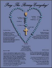 Teach the Prayers of the Rosary with a color Rosary Diagram with prayers at Saint Anne's Helper.