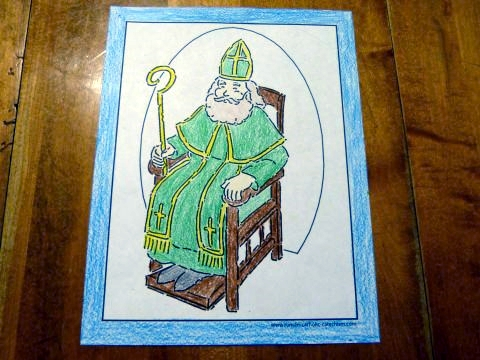 Saint Patrick coloring page or color it for any bishop.