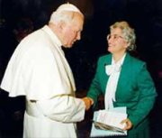 Pope John Paul II, Mary K. Clark