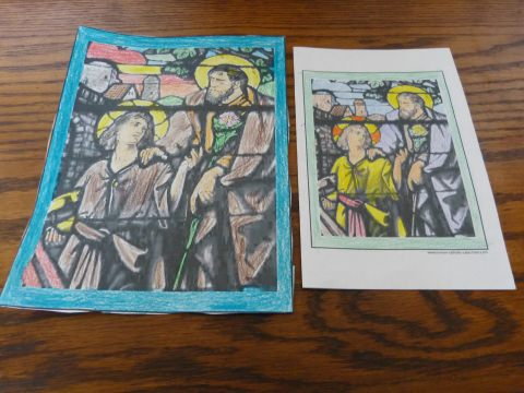 St. Joseph and Jesus Father's Day Coloring Pages