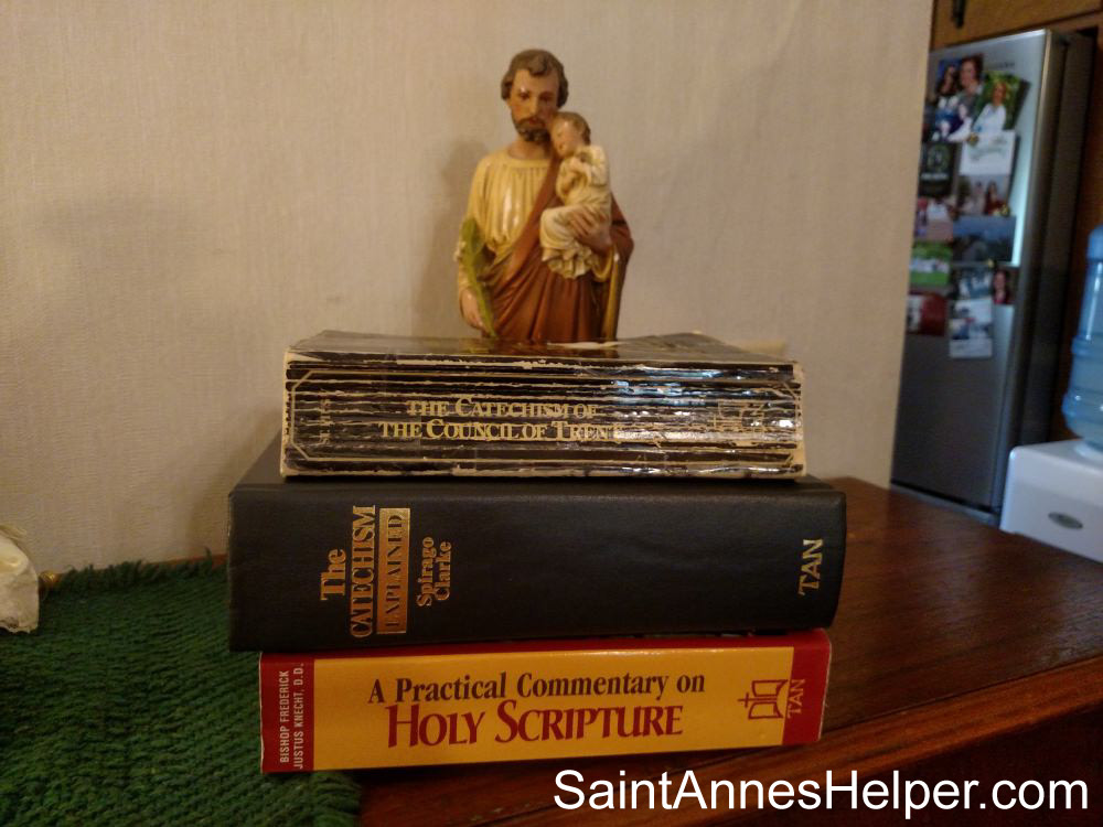 Great books to read before you teach the Catholic catechism for children: Catechism of Trent, The Catechism Explained, and A Practical Commentary on Holy Scripture.