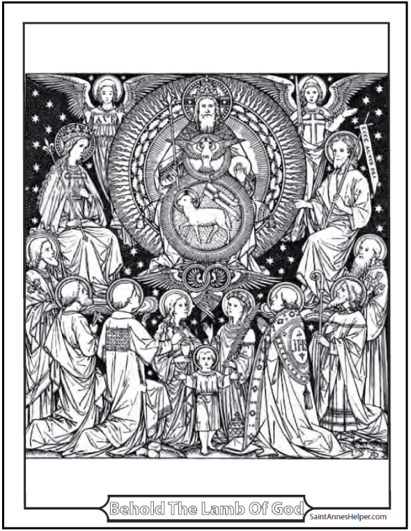 Blessed Trinity with Saints Adoring